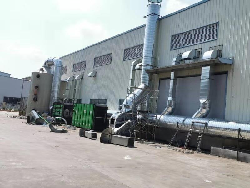 有机废气处理-活性炭UV光解加喷淋设